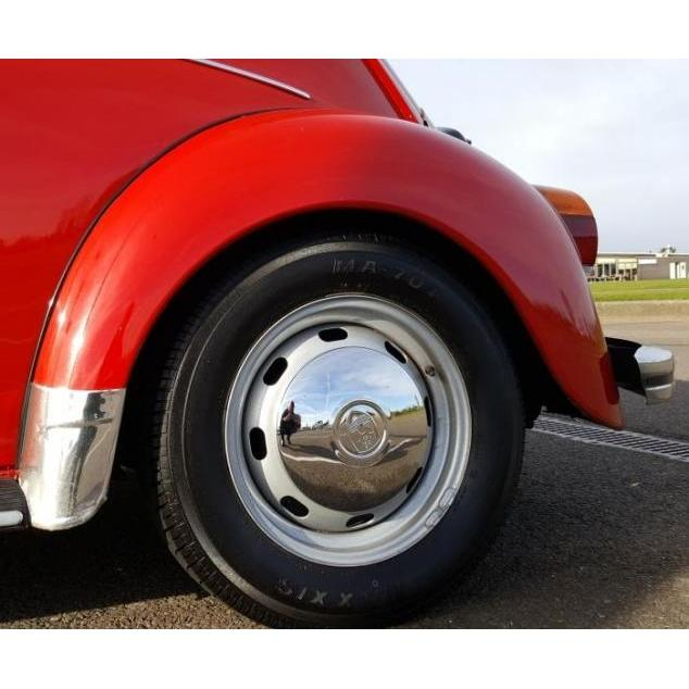 bay window Ghia Beetle VW T25 Chrome Enjoliveur avec Wolfsburg Logo