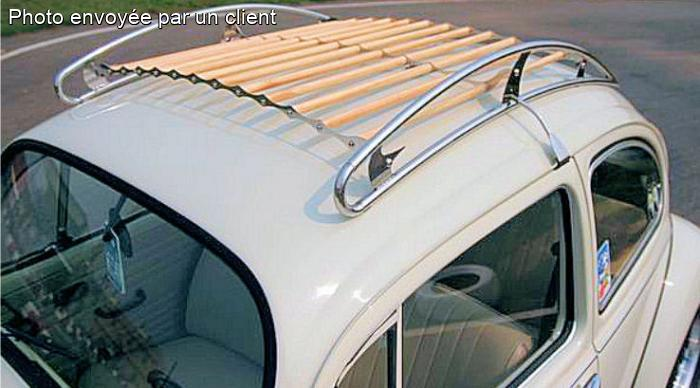 Volkswagen Coccinelle Galerie De Toit Style Vintage Inox