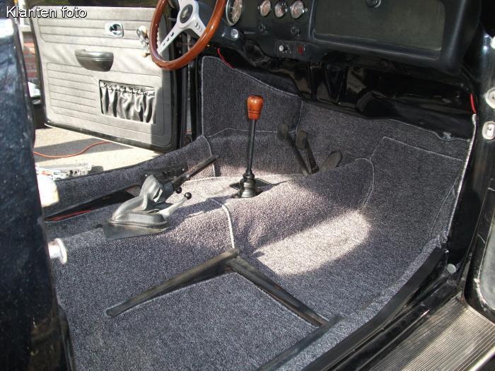 Volkswagen Kever Bouclé interieur tapijtset 9-delig gemeleerd grijs ...