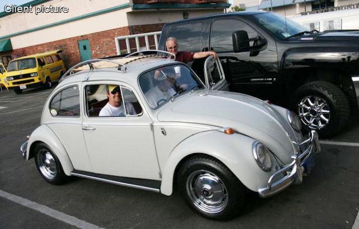 Volkswagen Beetle Vintage Roof Rack Polished Stainless Steel Number 4487