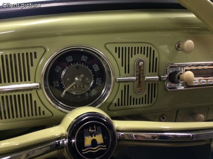 Volkswagen Beetle Dash Grill For Dehne Fuel Gauge Number 4496