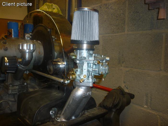 volkswagen beetle carburetor kit empi epc   tall manifolds number
