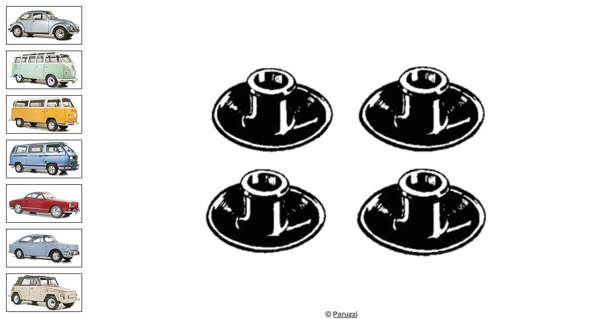 volkswagen beetle spark plug seals  4 pieces  number 2019