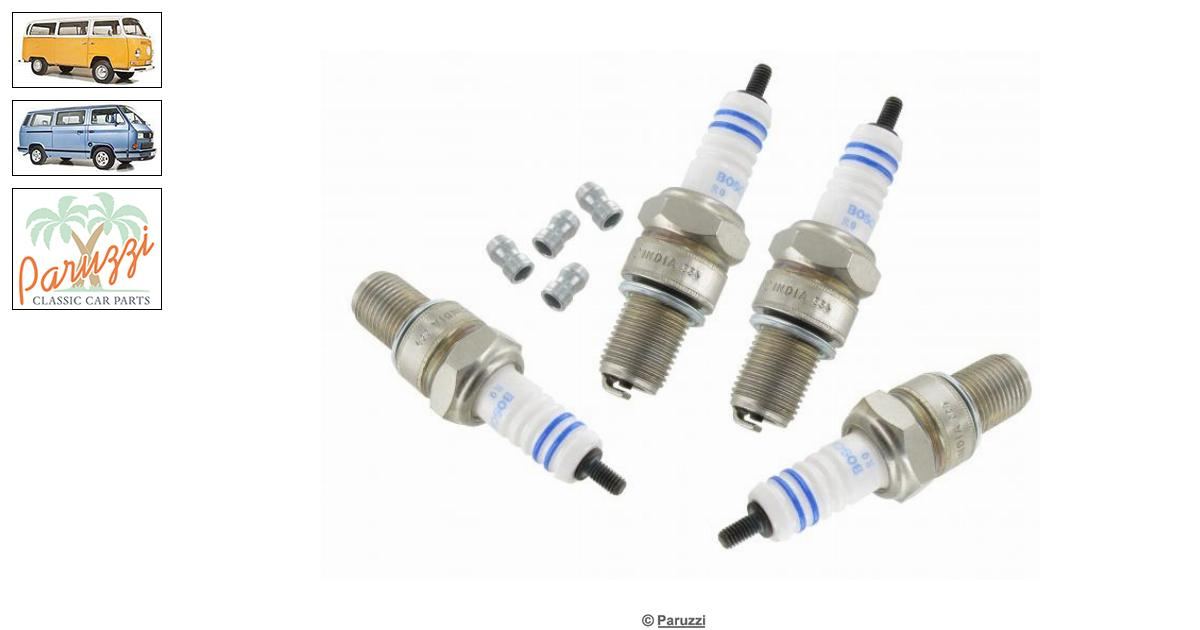 Volkswagen Beetle Spark plug Bosch W8 CC for stock engines (4 pieces)  number 42015 / N01781126