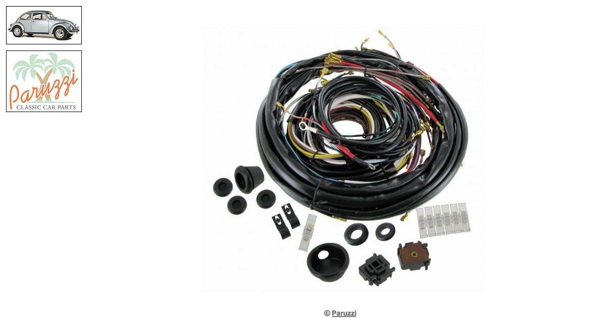 volkswagen beetle wiring loom complete number 755    113