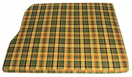 Engine mattress cover 1280 mm wide yellow with green and red chequered