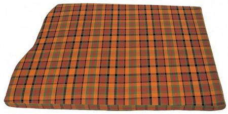 Engine mattress cover 1280 mm wide orange with yellow and green chequered