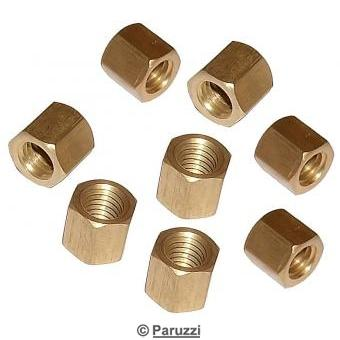 Brass nuts (8 pieces)