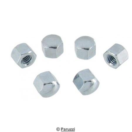 Domed cap nuts M6 6 pcs