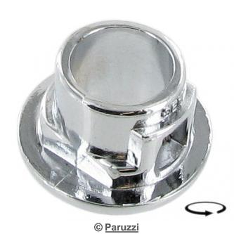 Chrome escutcheon for the cargo doors and  rear hatch handles each