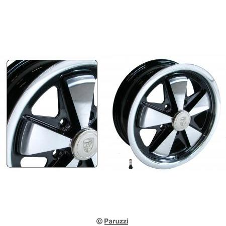 911 Alloy wheel polished with black inner side ea