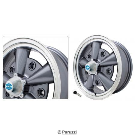 5-Rib wheel anthracite each