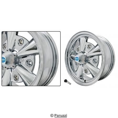 5-Rib wheel chrome each