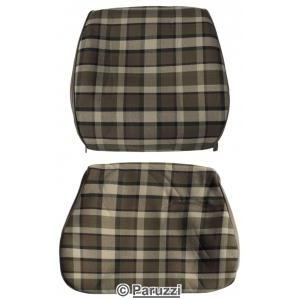 Seat cover set cover brown with beige chequered two-piece per seat