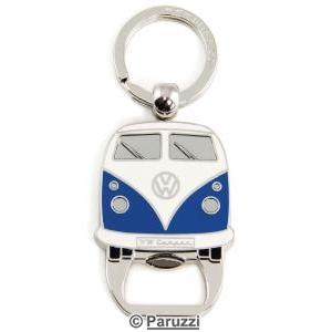 Split Bus bottle opener keychain blue