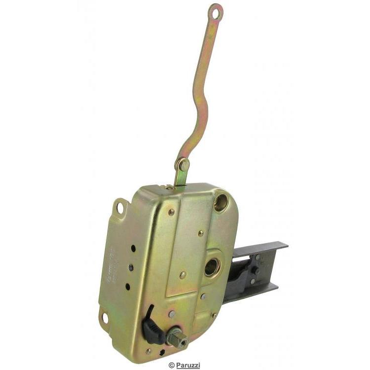 Right sliding door lock front side
