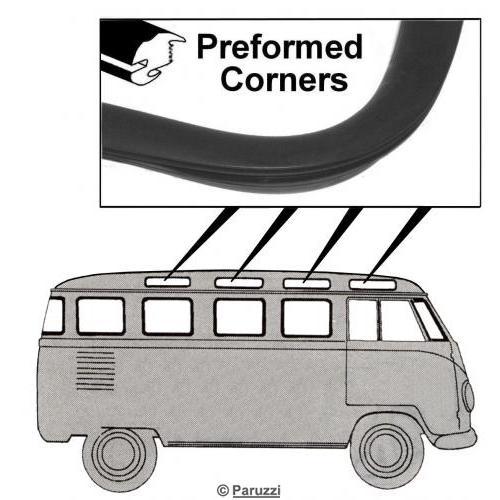 Volkswagen Split Bus Roof Window Seal Standard Each