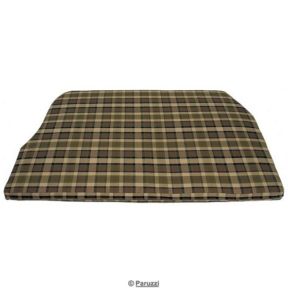 Engine mattress cover 1550 mm wide brown with beige chequered