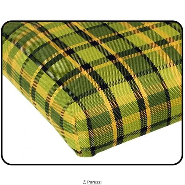 Rock and roll bed cover 1090 mm wide green with yellow chequered