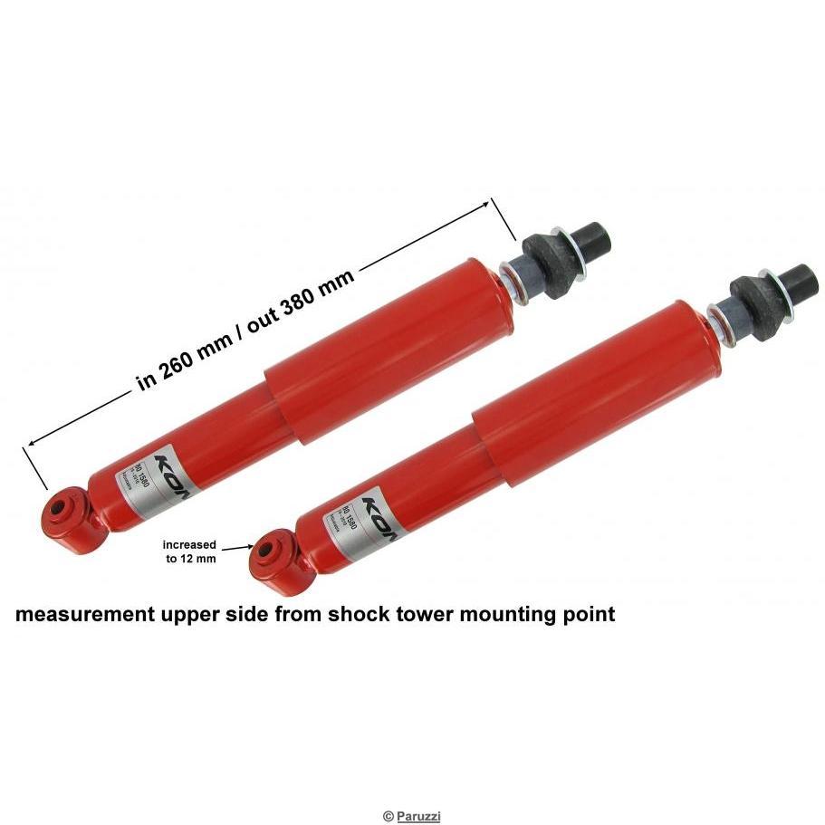 Shock absorber lowered adjustable (Per Pair)
