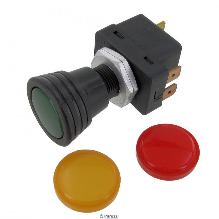 Bosch on-off pull switch including green, yellow and red lens