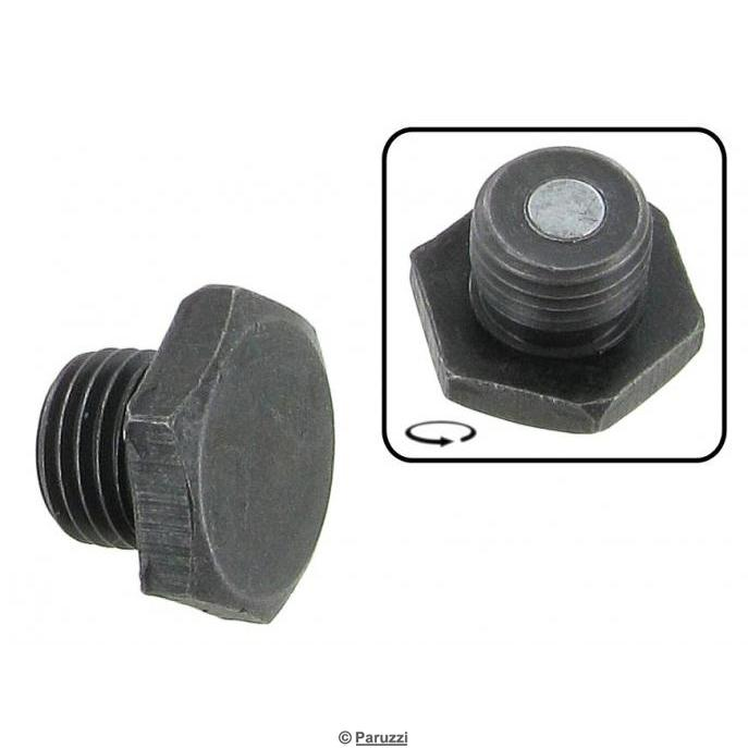 Magnetic oil drain plug black (M14 x 1.5)