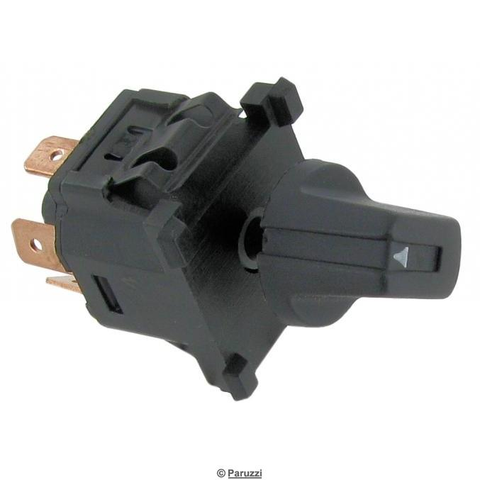 Blower motor switch for extra heating or airconditioning