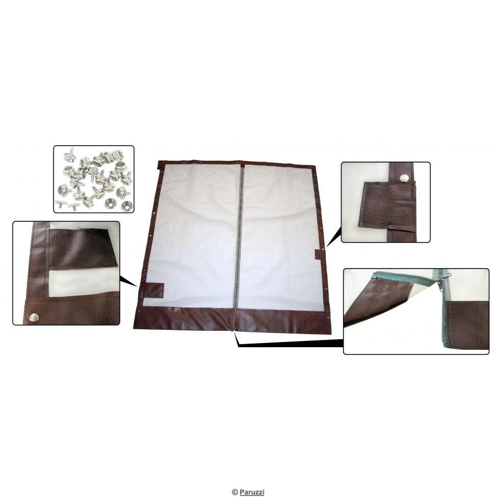 volkswagen combi t3 moustiquaire avec fermeture glissi re pour porte coulissante avec kit de. Black Bedroom Furniture Sets. Home Design Ideas